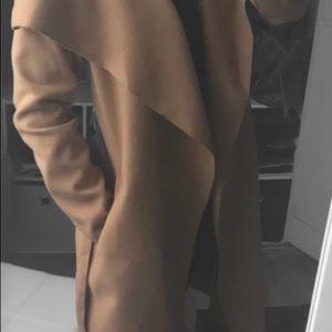 Jackets & Blazers - Camel Tan Waterfall Trench Coat